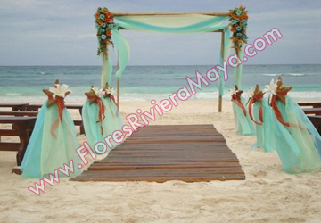 Florista De Boda Bodas En La Playa Decoracion Floral Cancun