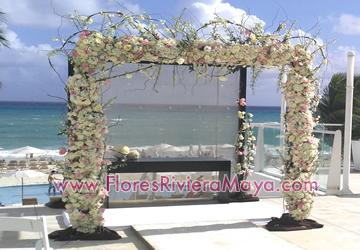 Flores para bodas decoracion de evento gazebos flores for Decoracion en cancun