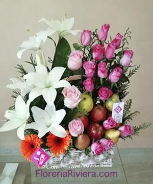 Canasta De Frutas Y Flores Florerias En San Luis Potosi